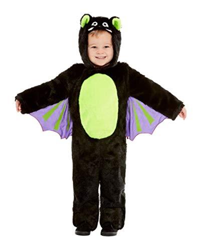 Horror-Shop Kuscheliger Fledermaus Kinderjumpsuit für Halloween und Karneval M