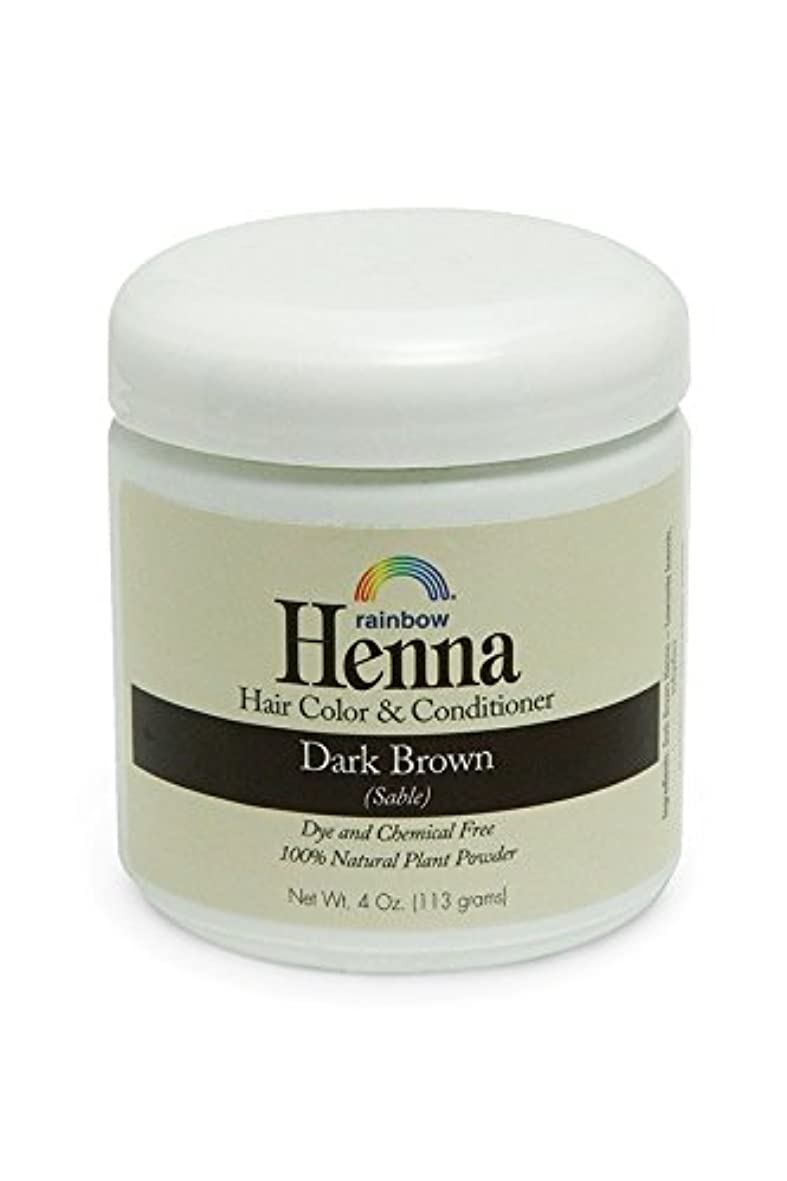 機動動物園可愛いRainbow Research, Henna, 100% Botanical Hair Color and Conditioner, Persian Dark Brown (Sable), 4 oz (113 g)