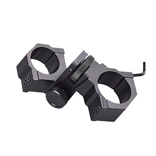 """Higoo Windage Elevation Adjustable 1""""/30mm Ring Mount for Scope Flashlight Laser Rifle"""