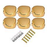 yotijar Clavijas de Afinación de Guitarra Clavijas de Afinación Cabezal de Máquina Botones de Repuesto Perillas - estilo 1