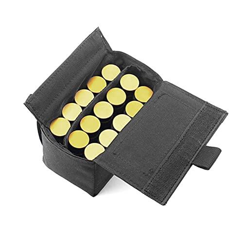 N \ A Tactical Shotgun Shell Holder Molle Shotshell Holder Buttstock Munición Bolsa de Soporte de Bala para Calibre 12/20 15 Rondas para cinturón Cintura Bolsa de Revista