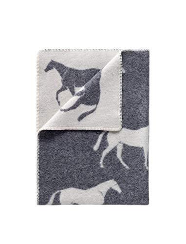 J.J. Textile Pferde-Pferdchen für Babyzimmer und Kinderzimmer, wendbar, warm, kuschelige Wolle, klein, Decke für Spielzimmer, Kinderwagen, Kinderwagen, Wiege, Babybett, Babykorb