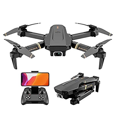 Drone with 4K HD Camera for Adults, WiFi FPV Live Video Foldable Drone GPS Return Home 18mins Flight Time Follow Me Remote Control RC Drone Quadcopter for Beginners by Fanle