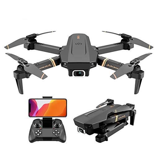 Drohne mit 4K HD-Kamera für Erwachsene, Faltbare WiFi-FPV-Live-Video-Drohne GPS Rückkehr nach Hause 18 Minuten Flugzeit Follow Me Fernbedienung RC Drone Quadcopter für Anfänger