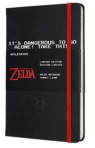 "Moleskine Limited Edition Legend of Zelda Notebook, Hard Cover, Large (5"" x 8.25"") Ruled/Lined, Sword, 240 Pages"