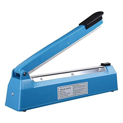 "Bag Sealer Machine Heat Plastic Impulse Sealing Poly Manual 12"" Closer Portable 16 Mini Seal Teflon 30 cm Wrap Food"