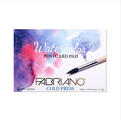FABRIANO Watercolor Postcard Pad 300g A6 15sheets (Cold Press)