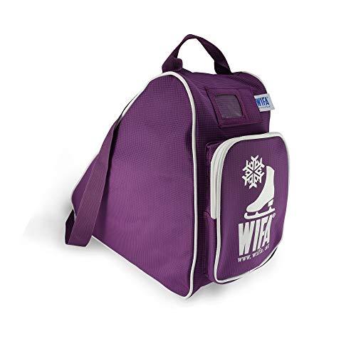 WIFA Eislauftasche Schlittschuhtasche für Kinder und Erwachsene (lila)