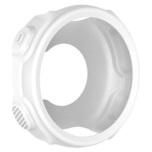 AWINNER Capa colorida para Garmin Forerunner 235/735XT, capa de silicone protetora à prova de choque e resistente a quebra para Garmin Forerunner 235 735XT, Branco