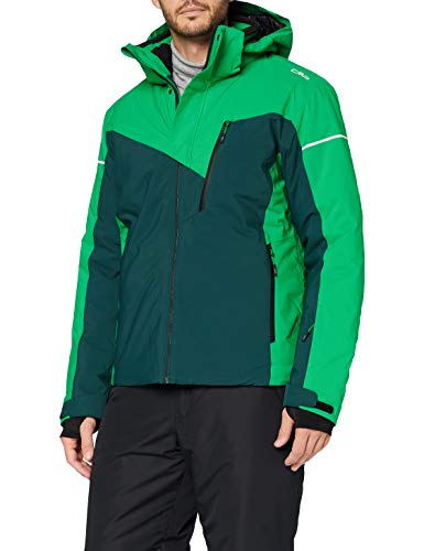 CMP Herren Skijacke aus Polyester-Twill mit ClimaProtect-Technologie 10.000, Petrolio, 48
