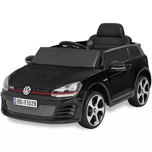 SENLUOWX Kinderauto Elektroauto VW Golf GTI 7 schwarz 12 V Kinderfahrzeug Kinderauto mit Fernbedienung*