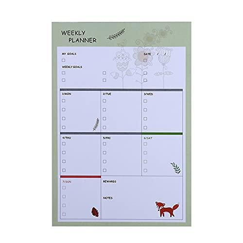 Etiquetas Adhesivas pequeñas del Plan N Fresh Week Notas Post-it Que se Pueden desgarrar Memo de Estudio de Trabajo Plan de Agenda Notas de arreglo Papel de Carta