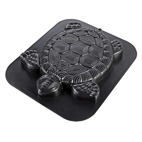 Skelang Turtle Pavement Mold, Reusable Path Maker Mold Concrete Cement Mould 15.75'×13.39'×1.5', Tortoise Stepping Stone Mould for DIY Garden Path, Patio Lawn Walkway, Yard Floor Paving