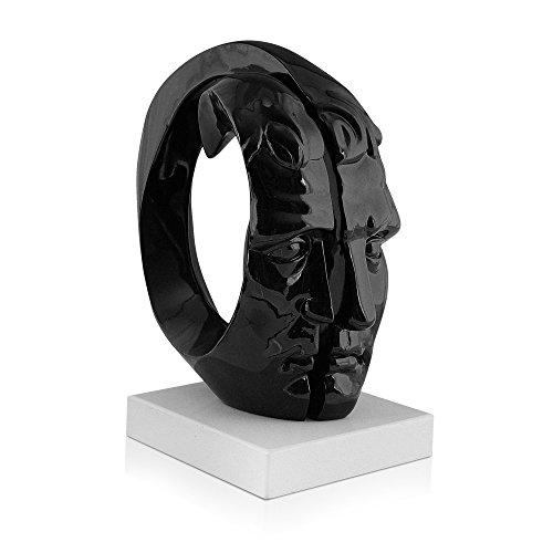 Arte Dal Mondo Harz Skulptur, Schwarz