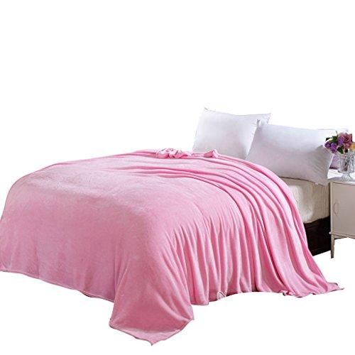 Wddwarmhome Couverture chaude de couverture chaude de lit de chambre à coucher de couverture de lit de chambre à coucher d'hiver de couverture chaude de polyester Couvertures ( Couleur : Rose , taille : 150*200cm )