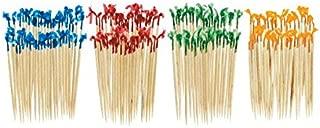 Amscan AssortedチェロFrills food-safe木製ピック(130ピース、2–1/ 2インチ、ブルー/レッド/グリーン/イエロー 130 pieces 40115