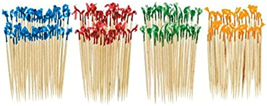 IMS Party 302545 Wooden Toothpicks in Transparent Box 2 x 65 mm Pack of 1000