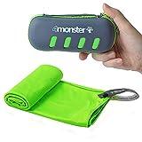 4Monster Asciugamani in microfibra ultraleggeri ad asciugatura rapida per fitness, sport, sauna, yoga e viaggi (S?40*80cm?, Verde)
