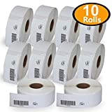 BETCKEY - Compatible DYMO 1738595 (0.75' x 2.5') Barcode/File Labels - Compatible with Rollo, DYMO Labelwriter 450, 4XL & Zebra Desktop Printers[10 Rolls/4500 Labels]