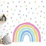 Pegatinas Pared Arcoiris Decorativa Infantiles Vinilos Pared Salon 3D Murales Adhesivo Pared Cocina Modernas Pegatinas Decorativas de Puerta Autoadhesivo Murales y Vinilos para Dormitorios Baño