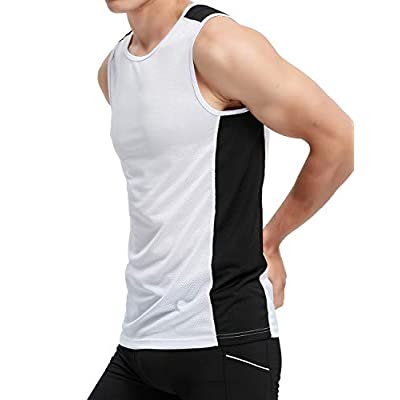 Amazon - Save 70%: APRAW Men's Basketball Muscle Tank Top Mesh Quick Dry Fit Performanc…