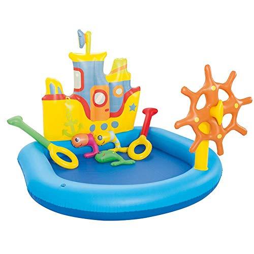 DSHUJC Kreuzfahrtschiff-Pool Kinder-Planschbecken, PVC-abriebfestes Schwimmbad Für Kleinkinder, Erwachsene, Kinder Summer Water Party Play Center