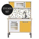 Limmaland Sticker für IKEA DUKTIG (Senf) - Kinderküche Nicht inklusive