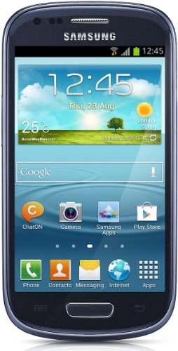 Samsung Galaxy S3 mini I8190 Smartphone, Display AMOLED da 10.2 cm (4 Pollici), Dual Core, 1 GHz, 1 GB RAM, Fotocamera 5 Megapixel, Wi-Fi, Android 4.1, Blu [Germania]