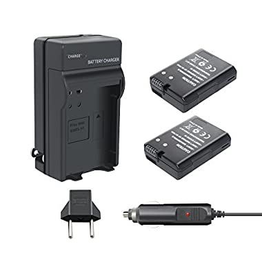 Nikon Battery EN-EL14 EN-EL14A-TURPOW 2 Pack 1500mAh Nikon EN-EL14 EN-EL14a Battery and Charger for Nikon D3100 D3200 D3300 D5100 D5200 D5300 D5500 DF Coolpix P7000 P7100 P7700 P7800 DSLR Camera