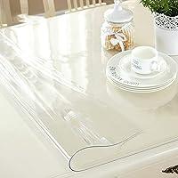 防水テーブルクロス、PVCテーブルフィルム、透明長方形テーブルクロス、家具プロテクター、断熱テーブルマット、洗える、さまざまなサイズ,60x100cm/24x39in