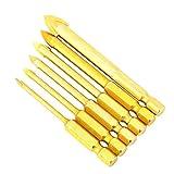 Brocas para perforar Perforación suave Brocas prácticas de ranura Brocas 6 piezas para baldosas de cerámica