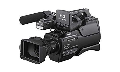 Sony HXR-MC2500E NXCAM AVCHD Schulter-Camcorder (Exmor R CMOS-Sensor, 6,59 Megapixel, Full HD, 32 GB interner Speicher, omnidirektionales Stereo-Elektret kondensator) schwarz