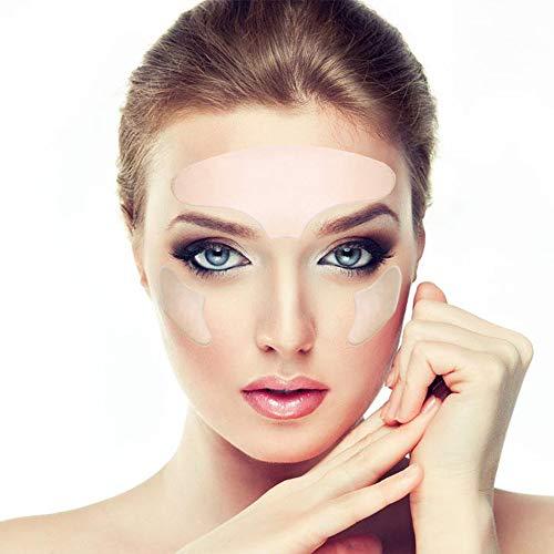 Parches faciales de arrugas, parche de silicona unisex antiarrugas para la frente y las cejas, prevención de arrugas y frente de silicona, antiarrugas alrededor de los ojos, tratamiento antiarrugas