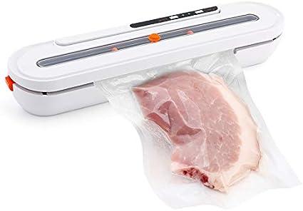 WangJieShop Macchina per sottovuoto, Sistema di sigillatura dell'aria automatica, portatile, per conservare gli alimenti, sigillatrice per la casa, macchina automatica per sottovuoto, White