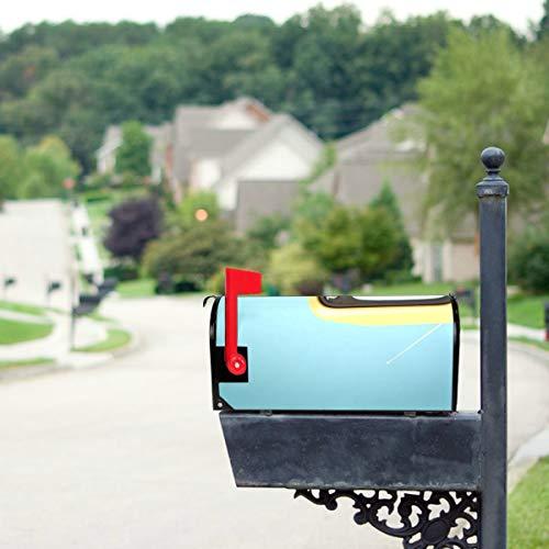 LONGYUU Retro-Vintage Orange Tv Standardgröße Original Magnetic Mail Anschreiben Briefkasten 21 x 18 Zoll Dekorative Briefkasten Abdeckungen Briefkasten Dekorative Briefkästen Dekorative