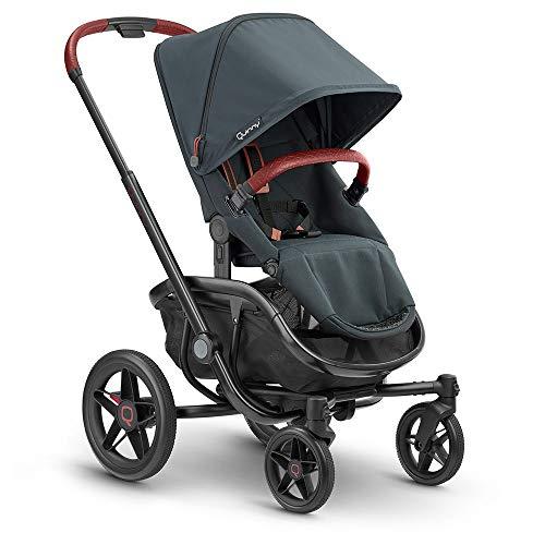 Quinny VNC Kinderwagen, nutzbar ab circa 6 Monate bis circa 3,5 Jahre (0-15 kg), stylischer Buggy mit einer Hand zusammenklappbar und besonders wendig, graphite twist, schwarz