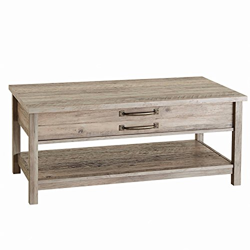 BHG Unique Style and Functionality with Modern Farmhouse Lift-Top Coffee Table, Rustic Gray Finish (1, Rustic Gray)