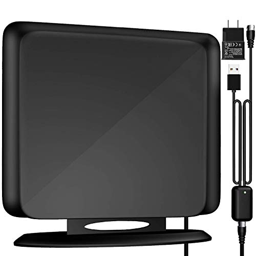 Indoor TV Antenna Amplified Channels - Upgraded Long Range Digital HDTV Antenna High Reception Digital TV Antenna for All Older TVs Fire TV Stick 4K/Vhf/Uhf/1080P Free Channels 16ft Coax