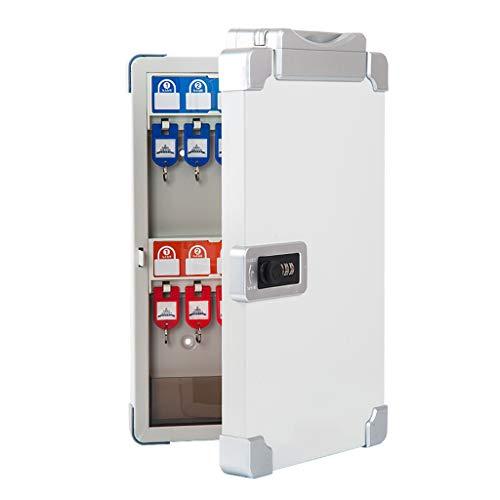 Armoires à clés Boîte de Combinaison de Touches de sécurité 24-120 boîte à clés avec Serrure à Combinaison Mural boîte de Rangement clé Portable (Color : Silver, Size : 29 * 7 * 40cm)