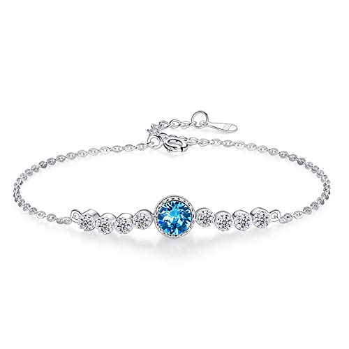 Ocean heart S925 sterling women's 5 ☆ popular Fashionable silver hig bracelet