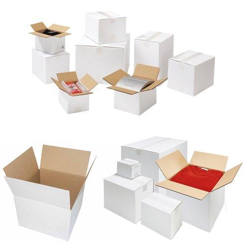 Wellpapp vouwkarton karton 1-golvend 250 x 175 x 100 mm wit selectie 50 Stück wit