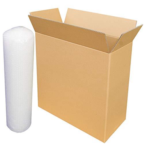 ダンボールキング 宅配140 タワー型大型パソコン梱包用硬材質ダンボール(箱560×260×560mm)とクッション5m便利セット