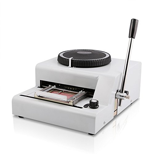 Superland Embosser 72 Character Card Embossing Machine for PVC Gift Card Credit VIP ID Membership Stamping Embossing (72 Characters)