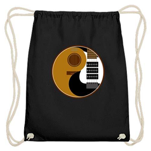 Ying Und Yang - Akustik Und Elektro Gitarre Rock Musik - Schlichtes Und WItziges Design - Baumwoll Gymsac