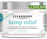 Hemp Pain Relief Cream- 2,500,000 Made in USA Lab Tested Hemp Oil Formula for Arthritis, Back, Knee, Joint, Nerve & Muscle Pain, Inflammation with Natural Peppermint Oil, Arnica Extract & Aloe 2oz