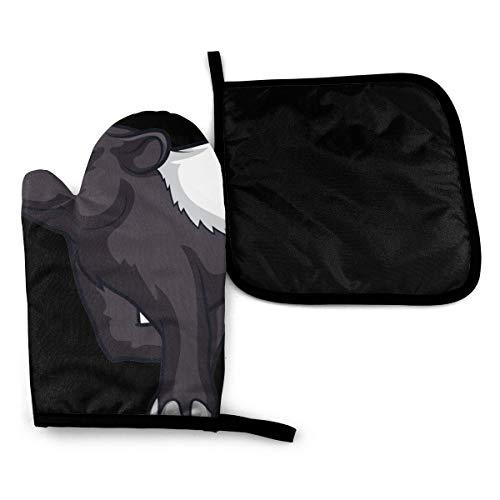 Wfispiy Guante para Horno Tapir Guantes para Horno Resistent