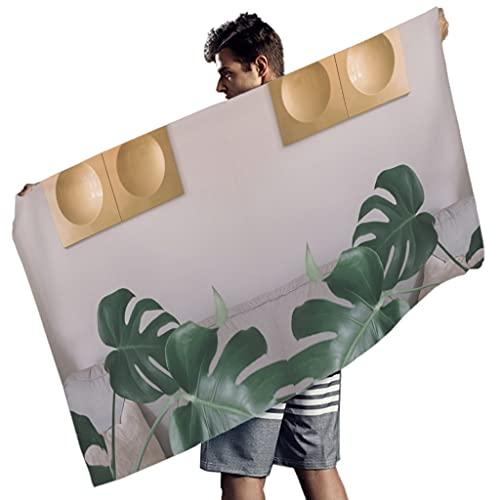 Ktewqmp Toalla de baño grande de microfibra, para el hogar, para la playa, resistente al calor, 150 x 75 cm, color blanco