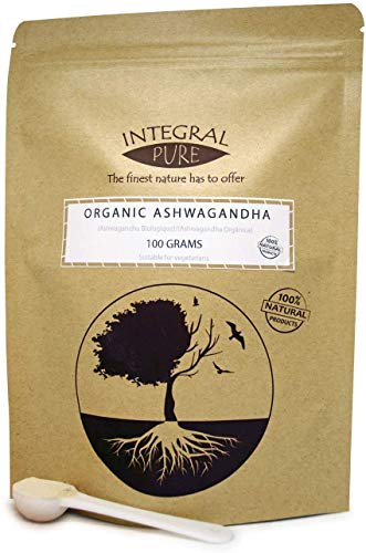 Pure Ashwagandha Root Powder | Organic Certified | Indian Ginseng | 1g Scoop Included (200g)