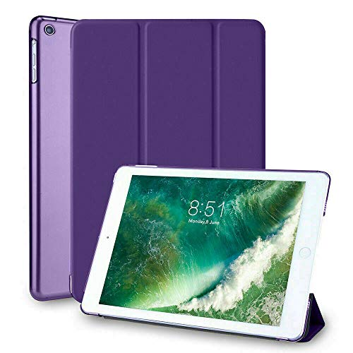 Magnetic Smart Stand PU Leather Case for Apple iPad 6th/5th Generation 2017/2018 iPad 9.7 inch Air/Air2 Auto Sleep Wake Screen Cover-Purple