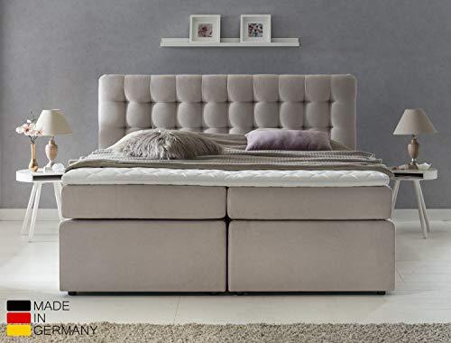 Furniture for Friends Möbelfreude® Premium Boxspringbett Perris | 180x200 cm Beige Uni H3 | mit hochwertigen Tonnen-Taschenfederkern Matratzen & Viskose-Topper | Made IN Germany